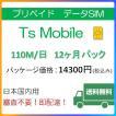 ドコモ 格安SIM プリペイドsim 日本国内 高速データ容量110M/日12ヶ月プラン(Docomo 格安SIM 12ヶ月パック)