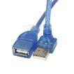USB Aタイプ 直角端子 延長ケーブル 20cm USB2.0Aタイプ(メス)-USB2.0Aタイプ(オス)上L型 狭所 出幅抑制 接触防止 USBA-CA20UL H82904 変換名人