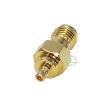 SMA⇔MMCX変換アダプタ SMA(メス)⇔MMCX(オス) 自動車アンテナや無線機、トランシーバーアンテナ変換 業務機器等 SMAとMMCX中継 SMA-MMCX