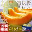 メロン めろん 北海道富良野産 超大玉 富良野メロン 化粧箱 2玉 (1玉:約2kg) 合計約4kg 送料無料