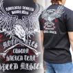 バイカー Tシャツ 半袖 刺繍 メンズ 大きいサイズ 鷹 2018年新作