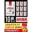 UHA味覚糖 DNSグミ ZMA コーラ味 10日分10袋セット(もれなくUHAグミサプリプレゼント!)