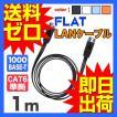 LANケーブル ランケーブル フラット 1m CAT6準拠 1年...