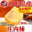【出荷中】山形県産 柿 庄内柿 2kg(ご家庭用/10玉〜18玉入り)