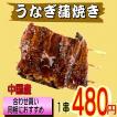うなぎ 蒲焼 100g【温めるだけ・中国産】1串から買えます。送料無料条件あり!【たれ・山椒付き】