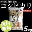 お米 5kg 白米 コシヒカリ 南魚沼産 精白米 有機栽培米 送料無料 贈答品 お取り寄せ