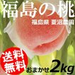 もも 桃 おまかせ 2kg 5〜8玉 福島県菱沼農園 送料無料 お中元 贈答品 取り寄せ 産地直送 ふくしまプライド。