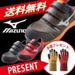安全靴 ミズノ安全靴 作業靴 送料無料 手袋プレゼント ポイント10倍 ミズノ MIZUNO C1GA1601 プロテクティブスニーカー