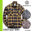 作業服/作業着/ROCKY/綿100%/チェックキルトシャツ/ユニセックス/RS4901/BONMAX