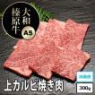 牛肉 黒毛和牛 大和榛原牛 ( A5等級 ) 上カルビ 焼肉用 お試し300g!