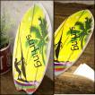 サーフィン ボード ハワイアン雑貨 壁掛け 立掛け スタンド ハワイ ウッドボード サーフボード ヤシの木 南国 リゾート