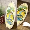 サーフ雑貨 サーフボード ヤシの木 パーム ハワイアン雑貨 壁掛け 立掛け スタンド ハワイ ウッドボード ビーチウォールサイン 南国