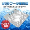 USBクール座布団 空調ざぶとん USB電源方式 USB式 ブ...