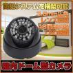 防犯カメラ ドーム型 LED48個防犯カメラ 赤外線搭載暗視可能 広角レンズ3.6mm搭載 屋内