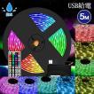 LEDテープライト 5m LEDテープ 防水 青 600連 SMD3528 白ベース 正面発光