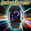 スピードメーター 腕時計 LED デジタルウォッチ 速度計モチーフ 時計 ブラック デジタル表示 メンズ タコメーター おしゃれ スピードメーター風 デザイン