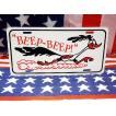 ロードランナー BEEP BEEP ライセンスプレート フラットタイプ アメリカ 雑貨 アメリカン雑貨
