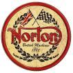Norton ノートン ラウンド 円形 ロゴ バイク系 レトロ調 アメリカンブリキ看板 アメリカ 雑貨 アメリカン雑貨