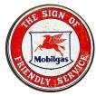 モービル レトロシリーズ ラウンド 円形 ガソリン系 Mobilgas アメリカンブリキ看板 アメリカ 雑貨 アメリカン雑貨