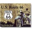 ルート66を走るバイク アメリカのマザーロード ROUTE66 アメリカンブリキ看板 アメリカ 雑貨 アメリカン雑貨