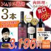 ワイン ワインセット ソムリエおすすめ ワイン通を飽きさせない 旨口 赤ワイン3本セット 送料無料