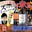 ワイン ワインセット ソムリエおすすめ スパイシー 赤ワイン バラエティ3本セット 送料無料