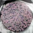 ベネチアングラス 皿 (大) ミルフィオーリ (ピンク系透明マルチ) イタリア製 モレッティ社
