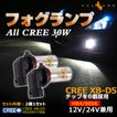 ALL CREE 30W LEDライト HB4/9006 LEDフォグランプ LEDバルブ CREE XB-D5 ホワイト 白 2個 6000K 純正交換用 デイライト 12V24V兼用