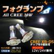ALL CREE 30W LEDライト PSX24W LEDフォグランプ 86/BRZ/インプレッサ等に LEDバルブ CREE XB-D5 ホワイト 白 2個 6000K 純正交換用 デイライト 12V24V兼用
