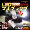 30W プロジェクター LEDフォグランプ HB4/9006 LEDバルブ LED フォグ 汎用 12V アルミヒートシンク 白 ホワイト