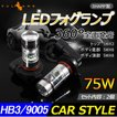 SHARP製 シャープ 75W 360度発光 LED フォグランプ 広角 HB3/9005 LEDフォグ フォグ 汎用 12V/24V対応 アルミヒートシンク LEDバルブ 白 ホワイト