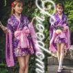 花魁 着物 ドレス コスプレ 衣装 セクシーコス 艶やか可愛い花魁スタイル!トップス&スカートのキュート着物ミニドレス セール sale