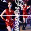 セクシー セクシーコス コスプレ 衣装 ハロウィン メタリックレッドのノースリショーパンスタイル!ステージ衣装コスチューム セール sale