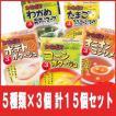北海道スープセット5種類×3箱の計15箱