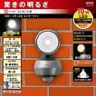 LEDセンサーライト 屋外 人感センサー 防犯灯 ムサシ 10W (LED-AC1010) 防犯ライト 防犯グッズ 照明 玄関 エクステリア 長寿命 コンセント式