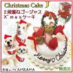 犬用 犬 クリスマス ケーキ E 2段 重ね ゴージャス cake 無添加 豪華 Xmas 送料無料 オフ会 馬肉 アレルギー 多頭 WANBANA ワンバナ