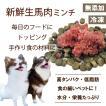 犬用 生肉 馬肉 ミンチ 500g 小分け カナダ産 無添加 トッピング ごはん 帝塚山 ワンバナ