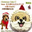 犬 犬用 クリスマスケーキ ケーキ C たれ耳 わんわん サンタ ささみ 野菜生地 4号 サイズ 無添加 アレルギー Xmas WANBANA ワンバナ 5000円以上 送料無料