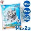 猫砂 紙 固まる 流せる 再生パルプ 飛び散りにくい ペレットタイプ ネコ砂 14L×2個セット ペーパーフレッシュ PFC-14L アイリスオーヤマ