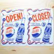 看板/プラサインボード ペプシコーラ Pepsi-Cola オープン/クローズド(タテ/両面プリント) CCA-008A