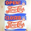 看板/プラサインボード ペプシコーラ Pepsi-Cola オープン/クローズド(ヨコ/両面プリント) CCA-008B