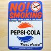 看板/プラサインボード ペプシコーラ Pepsi-Cola ノースモーキング(禁煙) CCA-010A