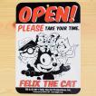 看板/プラサインボード フィリックスザキャット Felix The Cat オープン/クローズド(両面プリント) CDA-001