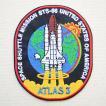 ロゴワッペン NASA ナサ(STS-066) 名前 作り方 NFC-001-066