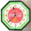 コカコーラ Coca-Cola 壁掛け時計/レトロネオンクロック PJC-R04 *送料無料 *代引不可