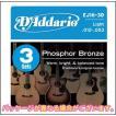 D'Addario(ダダリオ) アコギ弦 EJ16 3セットパック 12-53 ライトゲージ フォスファーブロンズ アコースティックギター弦 1セット 1弦~6弦 6本 管理品番 EJ16-3D