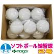 超特価 ソフトボール2号練習球 (スリケン・検定落ち・ナイガイ製) 1ダース (12球入り) Training-soft2-12