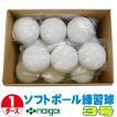 超特価 ソフトボール3号練習球 (スリケン・検定落ち・ナイガイ製) 1ダース (12球入り) Training-soft3-12