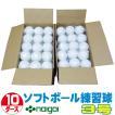 超特価 ソフトボール3号練習球 (スリケン・検定落ち・ナイガイ製) 10ダース (120球入り) Training-soft3-120