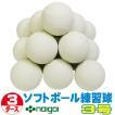 超特価 ソフトボール3号練習球 (スリケン・検定落ち・ナイガイ製) 3ダース (36球入り) Training-soft3-36
